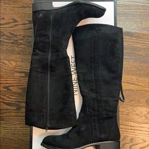 New!! Nine West - Black suede boots 6.5